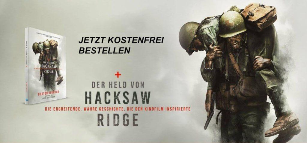 Kostenfreies Buchgeschenk zu Desmond Doss | Hacksaw Ridge von Mel Gibson